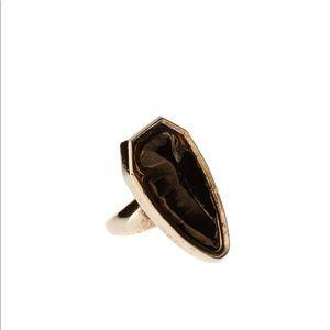 House of Harlow Blackened Metal Arrowhead Ring